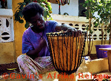 Djembe Bespannung